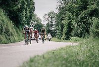the breakaway group<br /> <br /> Stage 5: Grenoble > Valmorel (130km)<br /> 70th Critérium du Dauphiné 2018 (2.UWT)