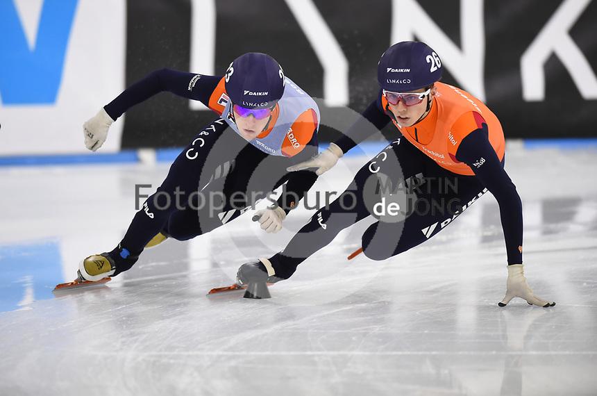 SCHAATSEN: HEERENVEEN: 12-12-2020, IJsstadion Thialf, Shorttrack, NK Shorttrack Afstanden, Sven Roes, Bram Steenaart, ©foto Martin de Jong