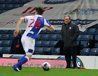 3rd November 2020; Ewood Park, Blackburn, Lancashire, England; English Football League Championship Football, Blackburn Rovers versus Middlesbrough; Middlesbrough manager Neil Warnock looks on from the touchline