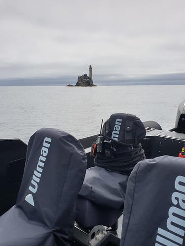 Fastnet Rock - the halfway point on a perfect evening for a high speed Rib run