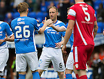 St Johnstone v Stirling Albion…30.07.16  McDiarmid Park. Betfred Cup<br />Steven Anderson celebrates his gopal<br />Picture by Graeme Hart.<br />Copyright Perthshire Picture Agency<br />Tel: 01738 623350  Mobile: 07990 594431