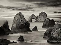 Mack Arch Rock at sunrise. Oregon