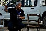 """Placido Rizzotto during a meeting discussing """"The Mafia today"""" with students from the northern italian town of Padova. He is the nephew of the trade unionist Placido Rizzotto killed by the Mafia on March 10, 1948, for his commitment to the peasant movement during the occupation of the lands. / Placido Rizzotto in un incontro su """"La mafia oggi"""" con ragazzi di Padova. E' il nipote di Placido Rizzotto, sindacalista ucciso dalla mafia il 10 marzo del 1948, per il suo impegno a favore del movimento contadino nell'occupazione delle terre."""