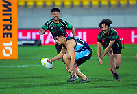 Naenae College and Wainuiomata High School play Quick Rip rugby during the halftime break of the Mitre 10 Cup rugby match between Wellington Lions and Counties Manukau Steelers at Westpac Stadium in Wellington, New Zealand on Wednesday, 29 August 2019. Photo: Dave Lintott / lintottphoto.co.nz