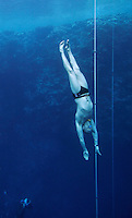 "Freediving competition ""Bizzy Blue Hole"" in Dahab, Sinai, Egypt. Steinar Schjager 47 meter UFC"