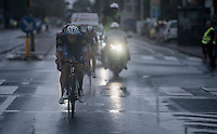 Niki Terpstra (NED/Etixx-QuickStep) leading the race in the rain<br /> <br /> 12th Eneco Tour 2016 (UCI World Tour)<br /> Stage 7: Bornem › Geraardsbergen (198km)