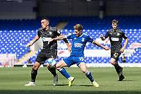 Teddy Bishop of Ipswich Town under pressure from Gary Roberts, Wigan Athletic,  during Ipswich Town vs Wigan Athletic, Sky Bet EFL League 1 Football at Portman Road on 13th September 2020