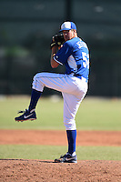Kansas City Royals pitcher Mike Jeffreys (52) during an Instructional League game against the Cincinnati Reds on October 16, 2014 at Goodyear Training Facility in Goodyear, Arizona.  (Mike Janes/Four Seam Images)