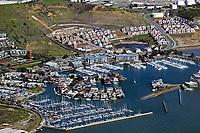 aerial photograph of Brickyard Cove, Richmond, Contra Costa county, California