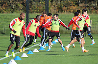 Pictured: Leon Britton back on training Wednesday 05 November 2014<br />