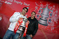 2009 02 06 Jordi Gomez & Andrea Orlandi with the FA Cup, Liberty Stadium, Swansea, south Wales.