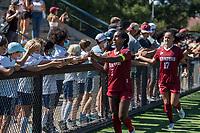 STANFORD, CA - SEPTEMBER 12: Naomi Girma after a game between Loyola Marymount University and Stanford University at Cagan Stadium on September 12, 2021 in Stanford, California.