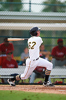GCL Pirates second baseman Andrew Walker (62) at bat during a game against the GCL Phillies on August 6, 2016 at Pirate City in Bradenton, Florida.  GCL Phillies defeated the GCL Pirates 4-1.  (Mike Janes/Four Seam Images)