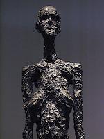 USA Detroit Institut of Arts - Giacometti  1901-1966 - Donna in piedi II  1960 Bronzo