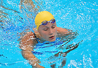 July 28, 2012: SARAH SJOSTROM exits the pool after competing in women's 100m Butterfly semifinal at the Aquatics Center on day one of 2012 Olympic Games in London, United Kingdom.