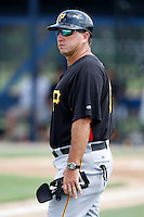 July 13, 2009:  Manager Tom Prince of the GCL Pirates during a game at Tiger Town in Lakeland, FL.  The GCL Pirates are the Gulf Coast Rookie League affiliate of the Pittsburgh Pirates.  Photo By Mike Janes/Four Seam Images