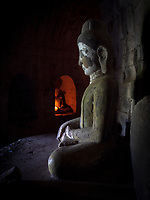 Inside the Lay Myat Na Temple, Mrauk U, Myanmar