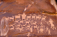 Fremont Indian rock art, Petroglyphs. Utah USA Cottonwood Canyon.