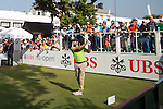 Joël Stalter of France tees off the first hole during the 58th UBS Hong Kong Golf Open as part of the European Tour on 11 December 2016, at the Hong Kong Golf Club, Fanling, Hong Kong, China. Photo by Vivek Prakash / Power Sport Images
