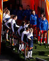 Tottenham Women and Reading Women  players line up in the tunnel during Tottenham Hotspur Women vs Reading FC Women, Barclays FA Women's Super League Football at the Hive Stadium on 7th November 2020