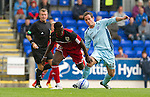 St Johnstone v Bristol City....28.07.12  Pre-Season Friendly.Kevin Moon and Yabbick Bolassie.Picture by Graeme Hart..Copyright Perthshire Picture Agency.Tel: 01738 623350  Mobile: 07990 594431