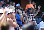 The crowd cheers for swag during a game at Greater Nevada Field in Reno, Nev., on Sunday, Aug. 28, 2016. <br />Photo by Cathleen Allison