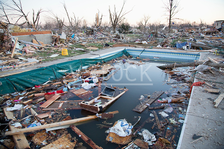 Swimming pool in town destroyed by tornado