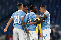 Lazio s Felipe Caicedo, second from right, celebrates with his teammates, from left, Sergej Milinkovic-Savic, Jean-Daniel Akpa Akpro and Adam Marusic, right, after scoring during the Serie A soccer match between Lazio and Hellas Verona at Rome's Olympic Stadium, December 12, 2020.<br /> UPDATE IMAGES PRESS/Riccardo De Luca