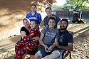 The Smith famliy at their Ramona home July 14, 07/14/20. Back from left, Ryann, 16, and brother Troy, 11. Front from left, mother Alicia, son Blake, 9, son Darek, 14 and father Darrell. photo by Bill Wechter