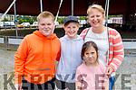 Odhran, Ellie, Chloe, Eirn Lyons from Lyrecrompane ready to enjoy the Circus Vegas on Saturday