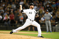 Chicago White Sox pitcher Daniel Webb (40) delivers a pitch during a game against the Toronto Blue Jays on August 15, 2014 at U.S. Cellular Field in Chicago, Illinois.  Chicago defeated Toronto 11-5.  (Mike Janes/Four Seam Images)