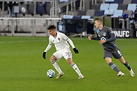 ST PAUL, MN - OCTOBER 28: Cole Bassett #26 of Colorado Rapids controls the ball during a game between Colorado Rapids and Minnesota United FC at Allianz Field on October 28, 2020 in St Paul, Minnesota.