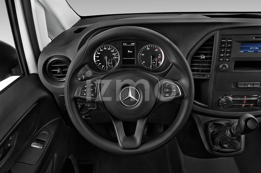 Car pictures of steering wheel view of a 2019 Mercedes Benz Vito Select 4 Door Car Van Steering Wheel