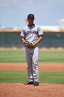 AZL Indians Red relief pitcher Samuel Vasquez (58) during an Arizona League game against the AZL Indians Blue on July 7, 2019 at the Cleveland Indians Spring Training Complex in Goodyear, Arizona. The AZL Indians Blue defeated the AZL Indians Red 5-4. (Zachary Lucy/Four Seam Images)
