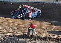 Dec. 10, 2011; Chandler, AZ, USA;  LOORRS pro lite unlimited driver Rodrigo Ampudia rolls it over during round 15 at Firebird International Raceway. Mandatory Credit: Mark J. Rebilas-