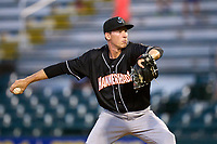 Jupiter Hammerheads pitcher M.D. Johnson (39) during a game against the Bradenton Marauders on June 26, 2021 at LECOM Park in Bradenton, Florida.  (Mike Janes/Four Seam Images)