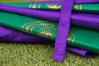 England, London, 26.06.2014. Tennis, Wimbledon, AELTC, Wimbledon umbrella<br /> Photo: Tennisimages/Henk Koster