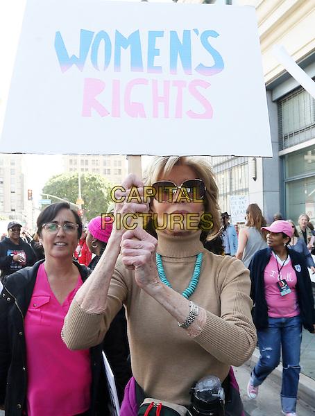ALos Angeles CA - JANUARY 21: Jane Fonda, At Women's March Los Angeles, At Downtown Los Angeles In California on January 21, 2017. <br /> CAP/MPI/FS<br /> ©FS/MPI/Capital Pictures
