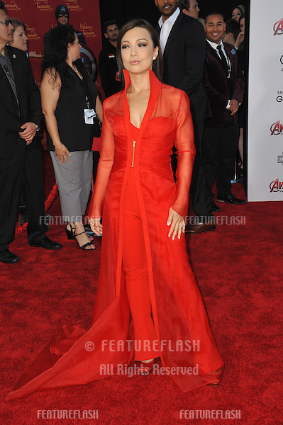 """Ming-Na Wen at the world premiere of """"Avengers: Age of Ultron"""" at the Dolby Theatre, Hollywood.<br /> April 13, 2015  Los Angeles, CA<br /> Picture: Paul Smith / Featureflash"""