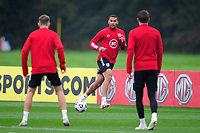 Ben Cabango of Wales in action during the Wales Training Session at The Vale Resort in Cardiff, Wales, UK. Monday 5 October 2020