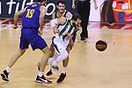 League ACB-ENDESA 2020/2021.Game 15.<br /> FC Barcelona vs Club Joventut Badalona: 88-74.<br /> Pierre Oriola, Alex Abrines & Pau Ribas.