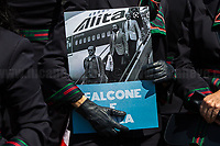 Antimafia Magistrates: Giovanni Falcone & Giuseppe Ayala. <br /> <br /> Rome, Italy. 05th May, 2021. Today, Alitalia workers, held a demonstration in Piazza del Popolo to mark the 74th Anniversary of Alitalia which saw its first flight: Torino - Roma - Catania, using an airplane FIAT G-12, on the 5th May 1947. The flag carrier of Italy was founded on the 16th September 1946 as Alitalia - Aerolinee Italiane Internazionali - but recently a plan to dismantle it has been under discussion between Mario Draghi's Italian Government and the European Union (EU - UE). The plan is to make Alitalia as a small and regional airline with a different name - while it is still one of the biggest airport slots owner in the world -, and to lay-off the majority of the workers - about 11,000 - of the Italian historical air company.   <br /> <br /> Footnotes & Links:<br /> Previous Demos:<br /> 23.04.2021 - Alitalia Workers Protest At Rome's Fiumicino Airport https://lucaneve.photoshelter.com/gallery/23-04-2021-Alitalia-Workers-Protest-At-Romes-Fiumicino-Airport/G0000I0vNSqRTV.Q/C0000GPpTqAGd2Gg<br /> 16.04.2021 - Alitalia Workers Protest At Fori Imperiali and Campidoglio https://lucaneve.photoshelter.com/gallery/16-04-2021-Alitalia-Workers-Protest-At-Fori-Imperiali-and-Campidoglio/G0000unf5F2yc0Ts/C0000GPpTqAGd2Gg<br /> 03.03.2021 - Alitalia Workers Protest Outside Italian Ministry Of Transport https://lucaneve.photoshelter.com/gallery/03-03-2021-Alitalia-Workers-Protest-Outside-Italian-Ministry-Of-Transport/G0000JI_TNBKDjz8/C0000GPpTqAGd2Gg