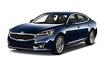 2018 KIA Cadenza Premium 4 Door Sedan Angular Front stock photos of front three quarter view