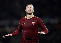 Calcio, Serie A: Roma vs Fiorentina. Roma, stadio Olimpico, 7 febbraio 2017.<br />
