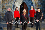 Killarney International choir who are who are in preparations for  the RAy of Hope Christmas concert in St Marys Cathedral on Sunday 20th December l-r: Liam Barry, Deidre Farrell, Sheila Casey, Paul O'Raw and Maura Horgan