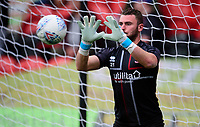 Lincoln City's Grant Smith during the pre-match warm-up<br /> <br /> Photographer Andrew Vaughan/CameraSport<br /> <br /> EFL Leasing.com Trophy - Northern Section - Group H - Doncaster Rovers v Lincoln City - Tuesday 3rd September 2019 - Keepmoat Stadium - Doncaster<br />  <br /> World Copyright © 2018 CameraSport. All rights reserved. 43 Linden Ave. Countesthorpe. Leicester. England. LE8 5PG - Tel: +44 (0) 116 277 4147 - admin@camerasport.com - www.camerasport.com