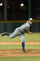 AZL Padres 1 relief pitcher Tom Colletti (53) follows through on his delivery during an Arizona League game against the AZL Cubs 1 at Sloan Park on July 5, 2018 in Mesa, Arizona. The AZL Cubs 1 defeated the AZL Padres 1 3-1. (Zachary Lucy/Four Seam Images)