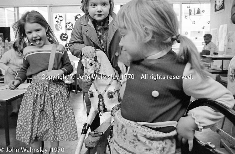 Dressing up, Vittoria Primary School, Islington, London.  1970.
