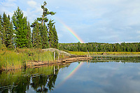 """""""Boundary Waters Rainbows""""<br /> <br /> After a day-long photography paddle along the beautiful Kelso River, we were rewarded with a reflecting rainbow. It was a welcome site after the many scattered electrical storms that passed through that afternoon."""