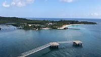 Hafen auf Roatan mit Strandclub und Seilbahn - 01.02.2020: Roatan mit der Costa Luminosa